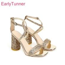 2020 Brand New Bling Fashion Gold Silver Women Bridal Sandals Elgant High Heel L