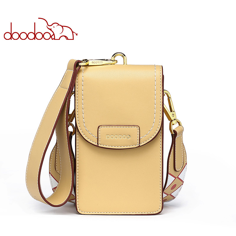 DOODOO Brand Women Crossbody Bags Ladies Crossbody Bags Crocodile Texture Pattern Phone Bag 2020 Chain Messenger Bags For Women