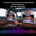 33007031969 - Monitor para reposacabezas de coche 4K, 13,3 P con Android 9,0, 2GB + 32GB, pantalla táctil con WIFI, Bluetooth, USB, SD, HDMI, FM, mirrorlink, Miracast