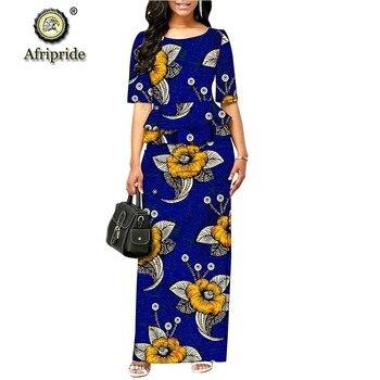 2019 الفساتين الرسمية الأفريقية للنساء dashiki اللباس bodycon اللباس أنقرة طباعة الشمع الباتيك أنقرة النسيج AFRIPRIDE S1925055