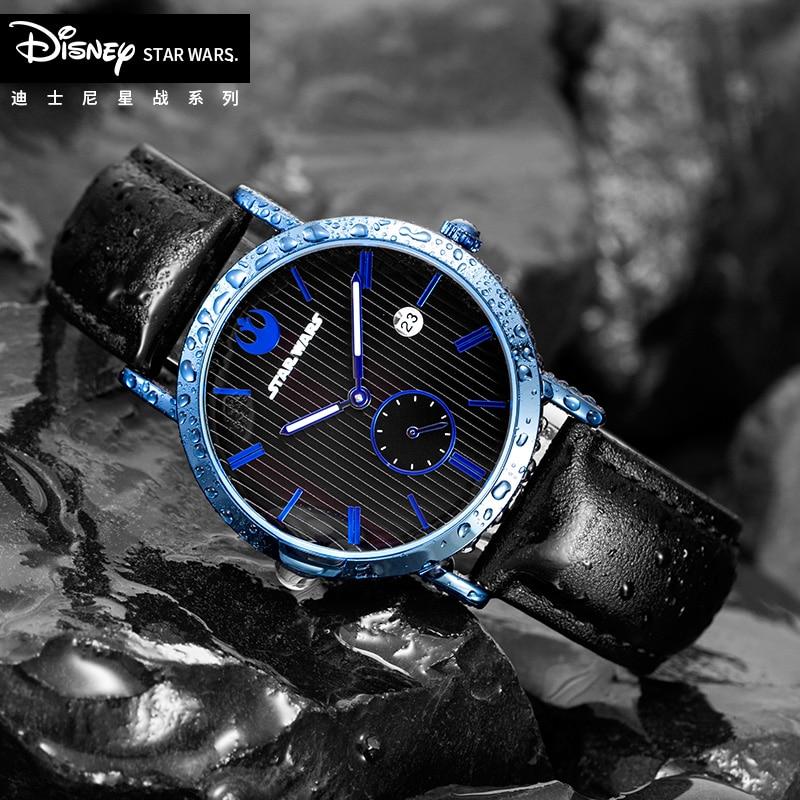 Disney Star Wars Casual Sport Watches For Men Top Brand Luxury Military Leather Quartz WristWatch Man Clock Fashion Chronograph