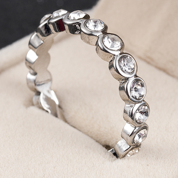 2020 New Fashion Jewelry Women Wedding Rings Round Cut White Zircon Ring Size 6-10 Christmas Gift
