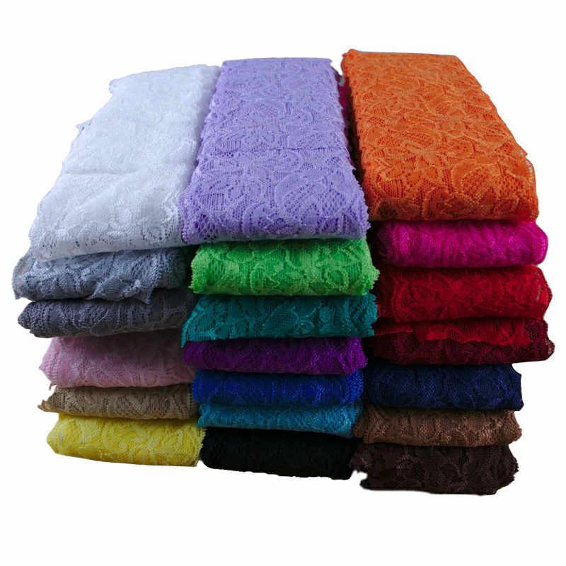 8 ซม.Spandex ยืดลูกไม้ Trim DIY หัตถกรรมผ้าสำหรับชุดชั้นในชุดชั้นในกางเกงขาสั้นเสื้อผ้าตกแต่งริบบิ้นลูกไม้