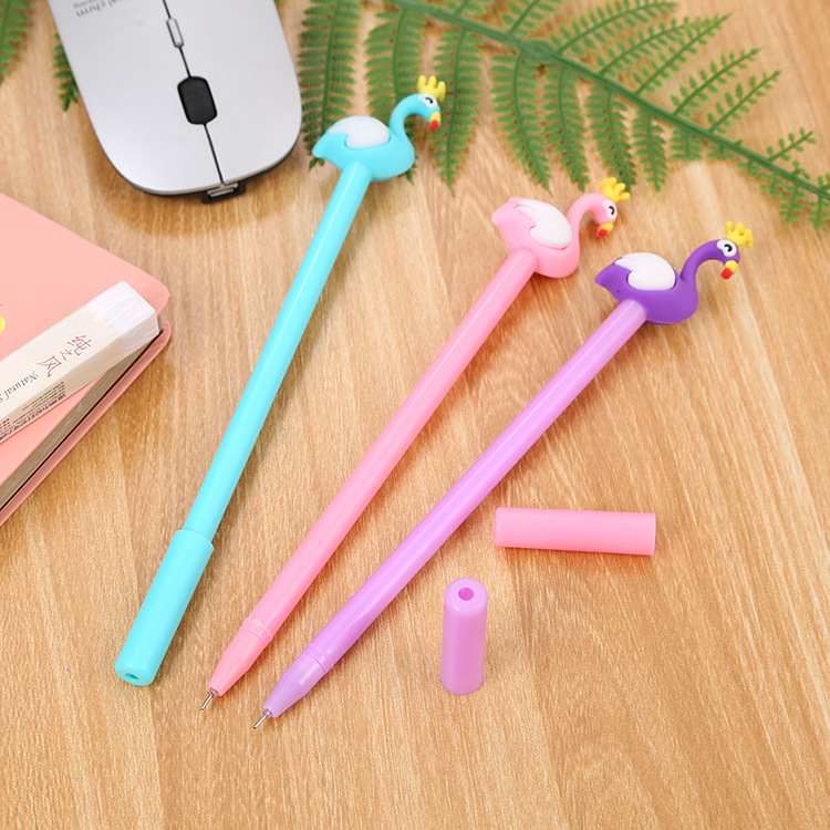 Creative stationery neutral pen cute learning office supplies water based signature pen cartoon Flamingo neutral pen