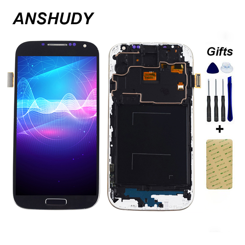 <font><b>LCD</b></font> Display + Touch <font><b>Screen</b></font> Digitizer Sensor Montage + Rahmen Für <font><b>Samsung</b></font> <font><b>Galaxy</b></font> <font><b>S4</b></font> i9500 i9505 i337 919 720T l720 image