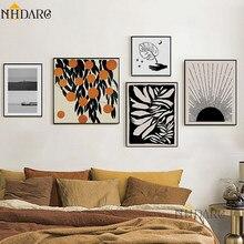 NHDARC-pinturas de hojas de Arte de lujo, póster impreso Giclee, decoración de pared para el hogar y la sala de estar