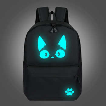 2019 School Backpacks For Teenage Boy Girls Luminous Cartoon Bag Schoolbag Bag For Teenagers Student Cute Cat Backpack to School - DISCOUNT ITEM  40% OFF All Category
