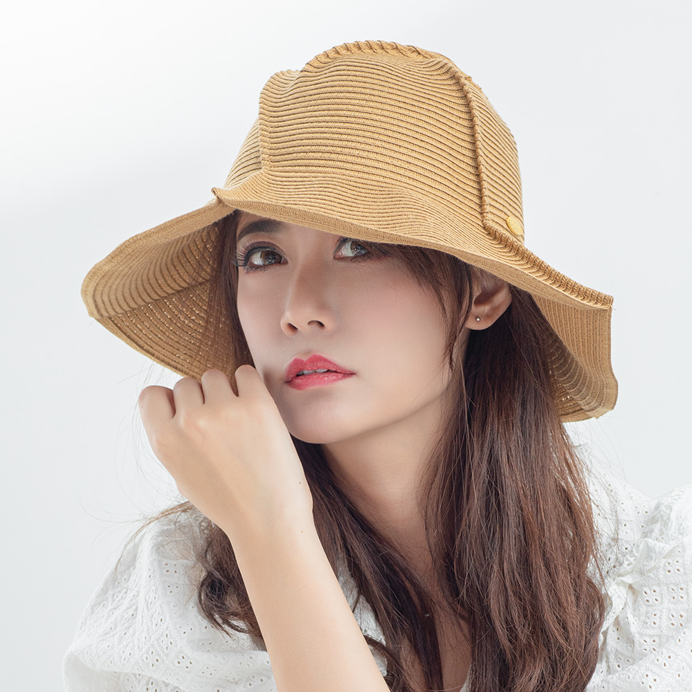 OhSunny Summer Bucket Hats For Women Beach Straw Hat Foldable Washable Panama Fedora Cap Wide Brim UV Protection Cap For Female