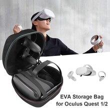 נסיעות אווה קליפה קשה תיק נשיאה עבור צוהר Quest 2 Quest VR אוזניות בקר קליפה קשה EVA אחסון מקרה