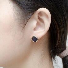 Fashion women blue crystal Stud earring brass earrings for gold fashion jewelry korean 2020