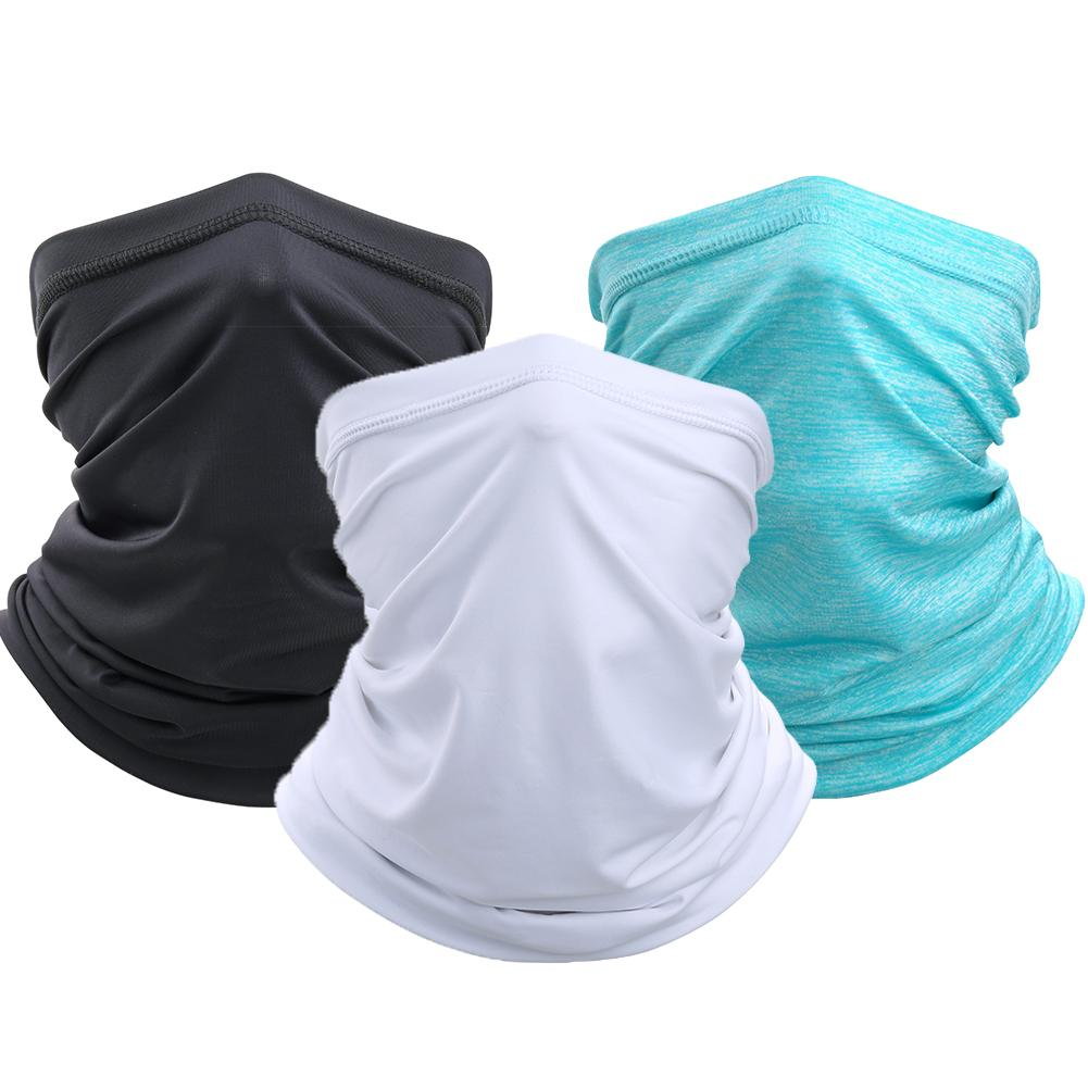 Unisex Solid Color Sun Protection Outdoor Cycling Face Mask Neck Gaiter Scarf Outdoor Scarf Mask Face Mask Cycling Bandana