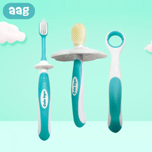 AAG 3Pcs/set Silicone Baby Tooth Brush Newborn Massager Teether Toothbrush Kit Dental Oral Care Clear Massage Tool