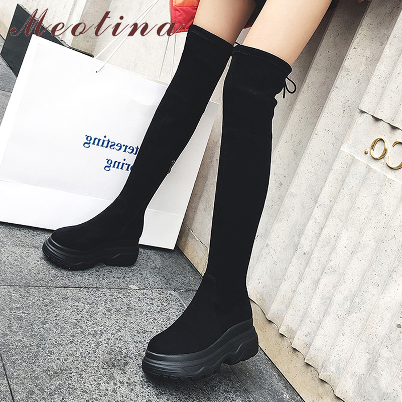 Meotina Winter Over The Knee Boots