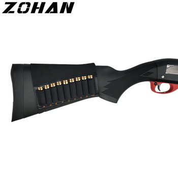 ZOHAN 9 Rounds Tactical Rifle Buttstock Shell Holder Stock Cartridge Holder Ammo Carrier Bullet Pouch Hunting Accessory 1
