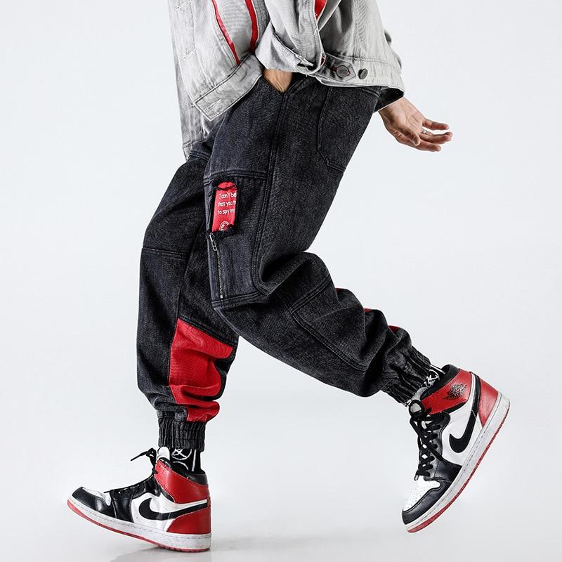 Harajuku pantalon hommes Hip Hop coton pantalon Streetwear hommes 2019 printemps mode hommes pantalon noir kaki gris