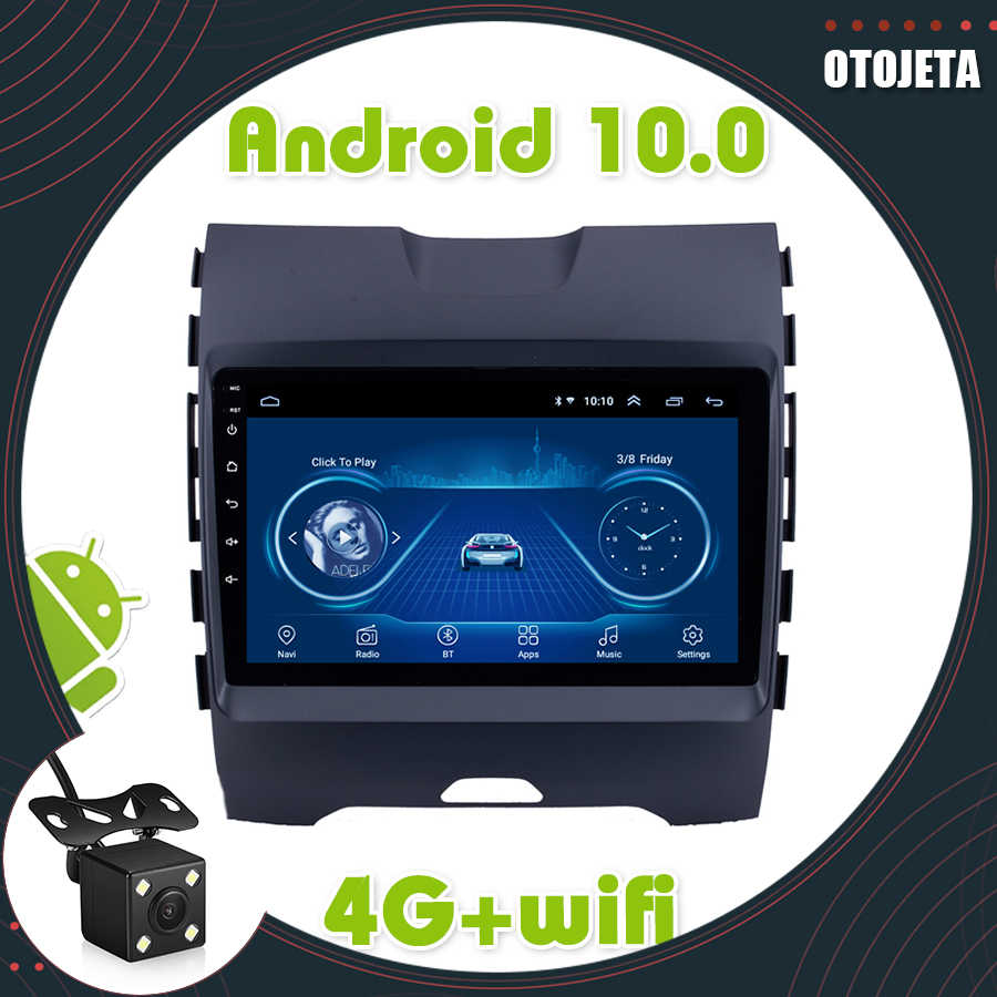 Auto Radio Multimedia Player untuk Ford Edge 2015 2016 2017 2018 2 Din Android 10.0 GPS Navigasi Bluetooth DSP DVD kepala Unit