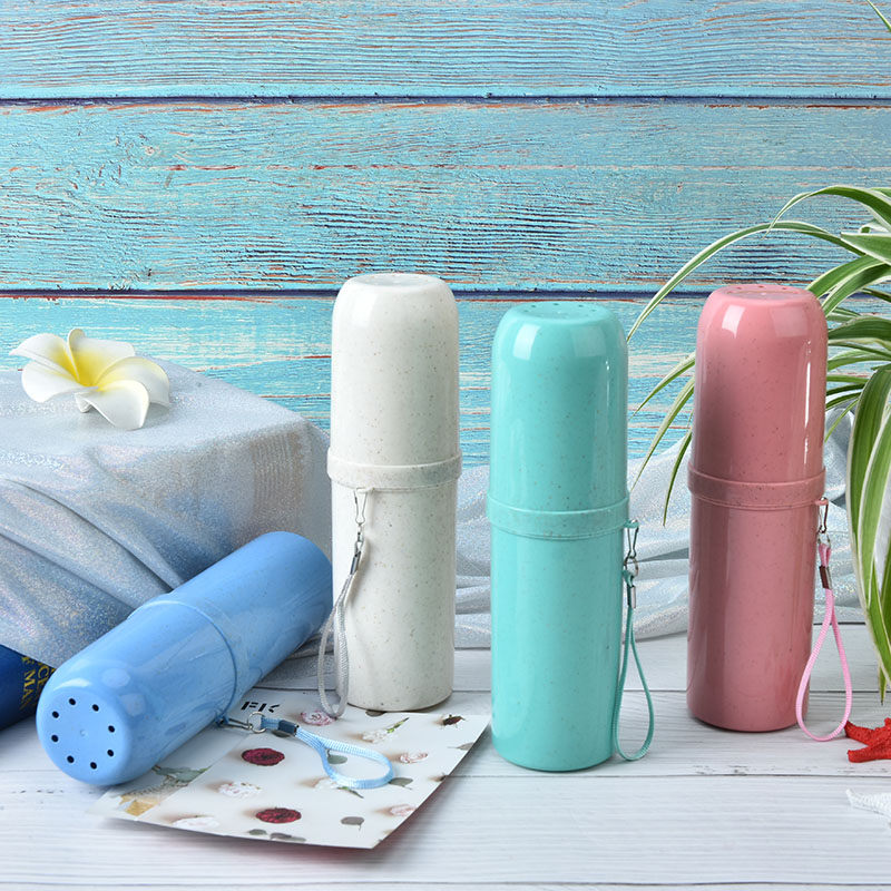 1PCS Portable Tooth Mug Toothpaste Cup Wheat Toothbrush Holder Travel Accessories Bathroom Tumblers 4 Colors