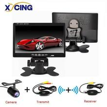 XYCING Universal 7 800*480 Color TFT LCD Screen Monitor, Car Rear View Monitor Kit 2 Video input for   Car Rearview Monitors