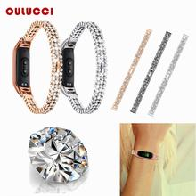 OULUCCI   stainless wriststrap Bracelet for Xiaomi Mi Band 4/3 Strap For xiaomi mi band 3 Strap for Mi band 4 Strap