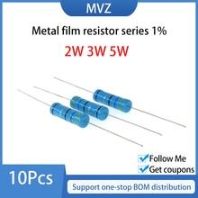 Serie di resistori a film metallico 1% 2W 3W 5W Watt 0.1R 0.12 0.15 0.18 R 0.2 0.22 0.24 0.27 0.3Ohm 0.33 0.36 0.39 0.43 0.47 0.5 Ohm
