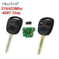 Okey Tecnologia 2 3 Botões 315/433Mhz 4D67 Chip FOB Chave Remoto Para Toyota Camry Corolla Prado Auto controle remoto CAMRY 304 60030