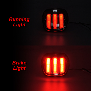 Image 5 - Motorcycle Red LED Tail Light Smoke/Chrome Lens Rear Brake Stop License Plate Lamp For Harley Softail Touring Dyna Sportster XL