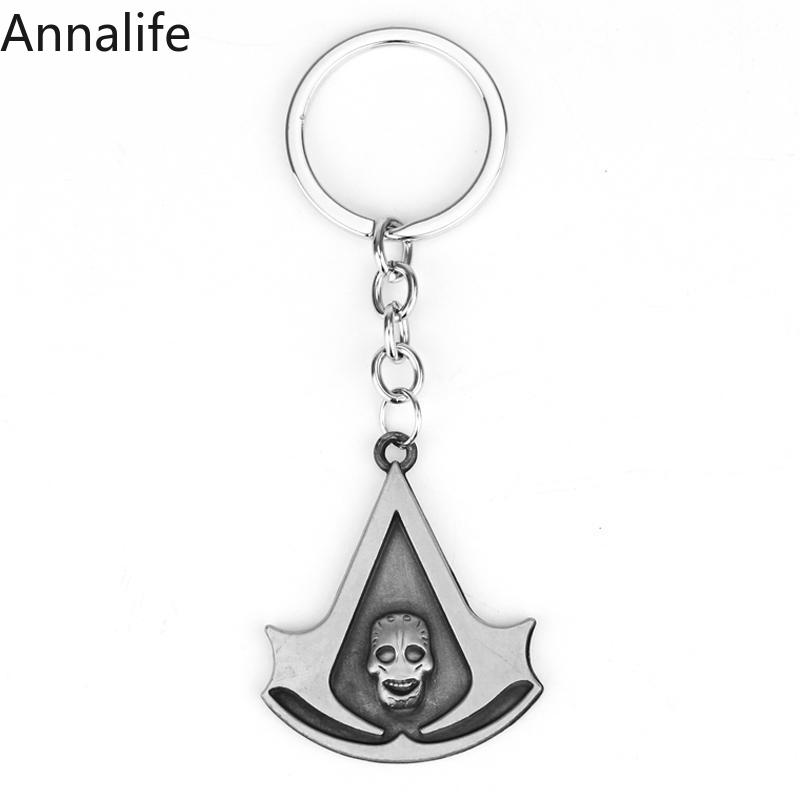 2019 New Assassins-Creed Keychain Game Metal Pendant Keyring Jewelry for Fans Gift image