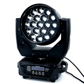 2pcs/lot flight case  Super Zoom Moving Head Wash LED Zoom Light 19x15w RGBW 4in1 Perfect For Stage Dj Light|rgbw 4in1|zoom moving head|moving head wash -
