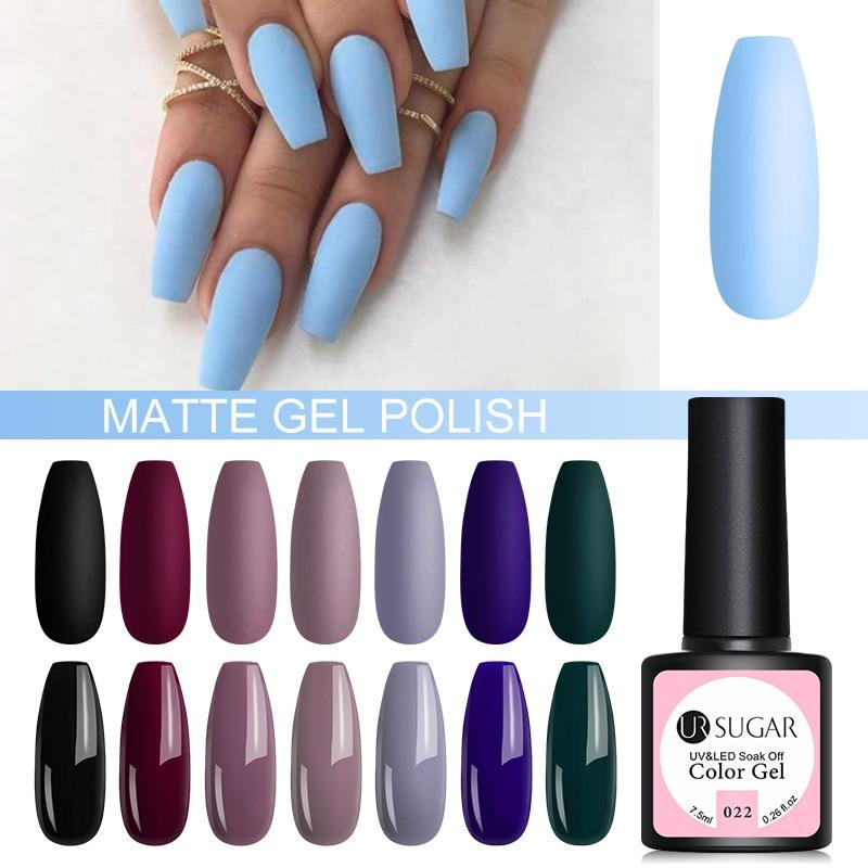 UR SUGAR 7.5ml UV Gel Nail Polish Solid 62 Color Soak Off UV Gel Varnish Color Nail Gel Polish DIY Nail Art Lacquer