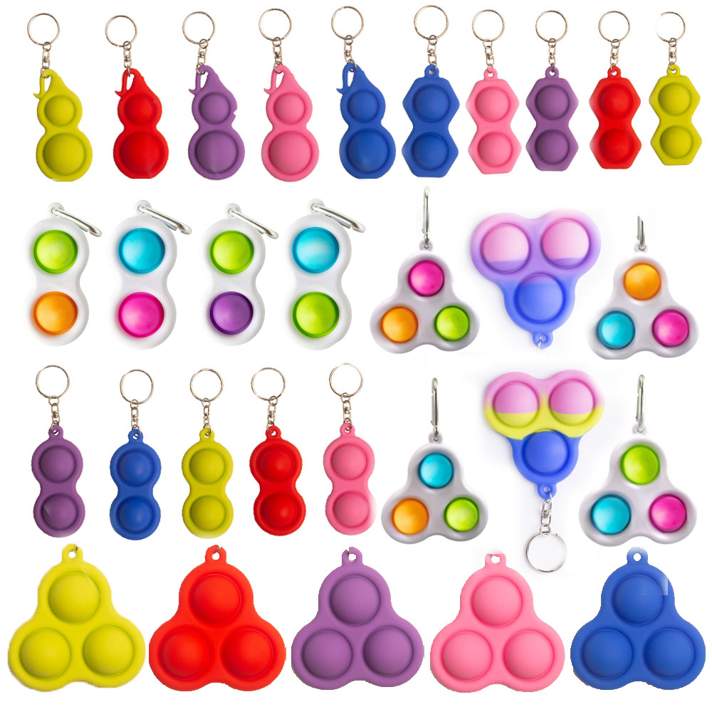 Unique Idea That is Light On The Fingers Handheld Mini Fidget Toy,Fidget Simple Dimple Toy Keychain Key Ring Pendant for Office WithADHD Autism Fidget Simple Dimple Toy Stress Relief Hand Toys