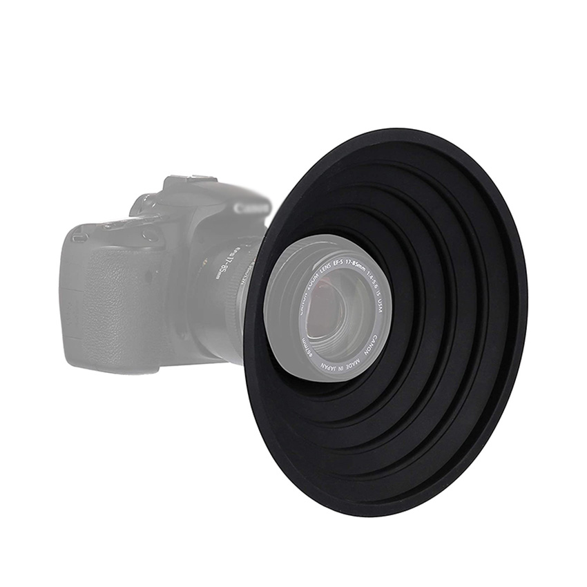 Lens Hood for 70-90mm Camera Lens, Ultimate Anti-Glass Anti-Reflective Silicone Collapsible Len Hood Take Reflection-Free Photos