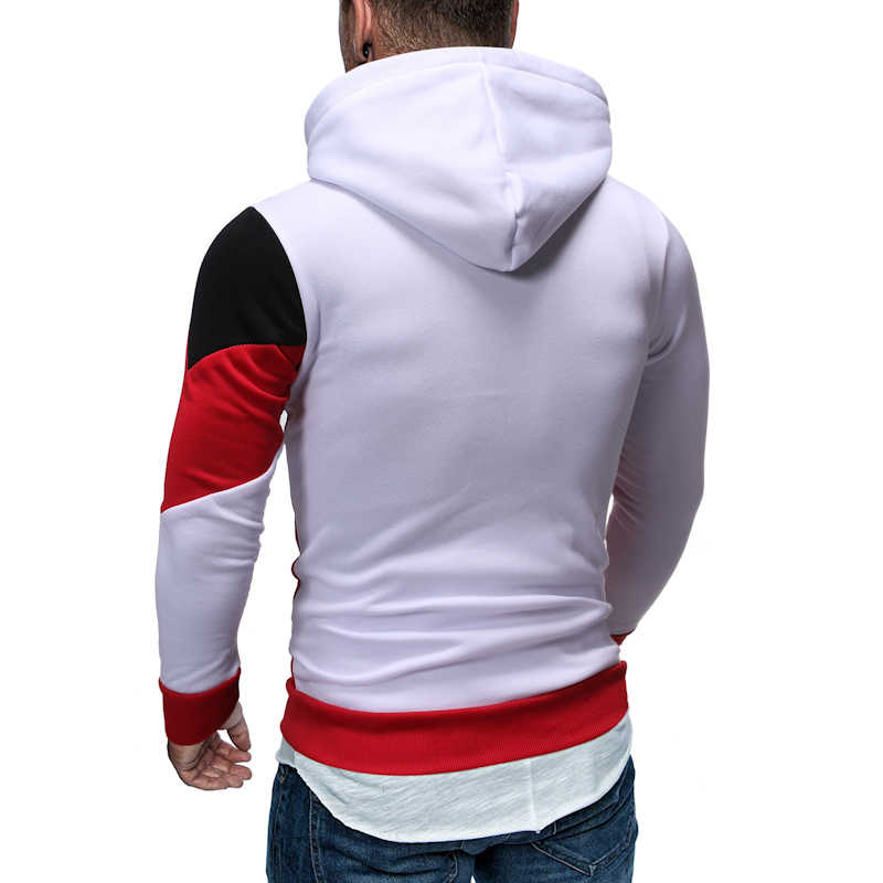 HEFLASHOR 가을 겨울 Hoody 자켓 남성 패션 후드 힙합 슬림 피트 후드 티 스웨터 남성 코트와 포켓 Streewear