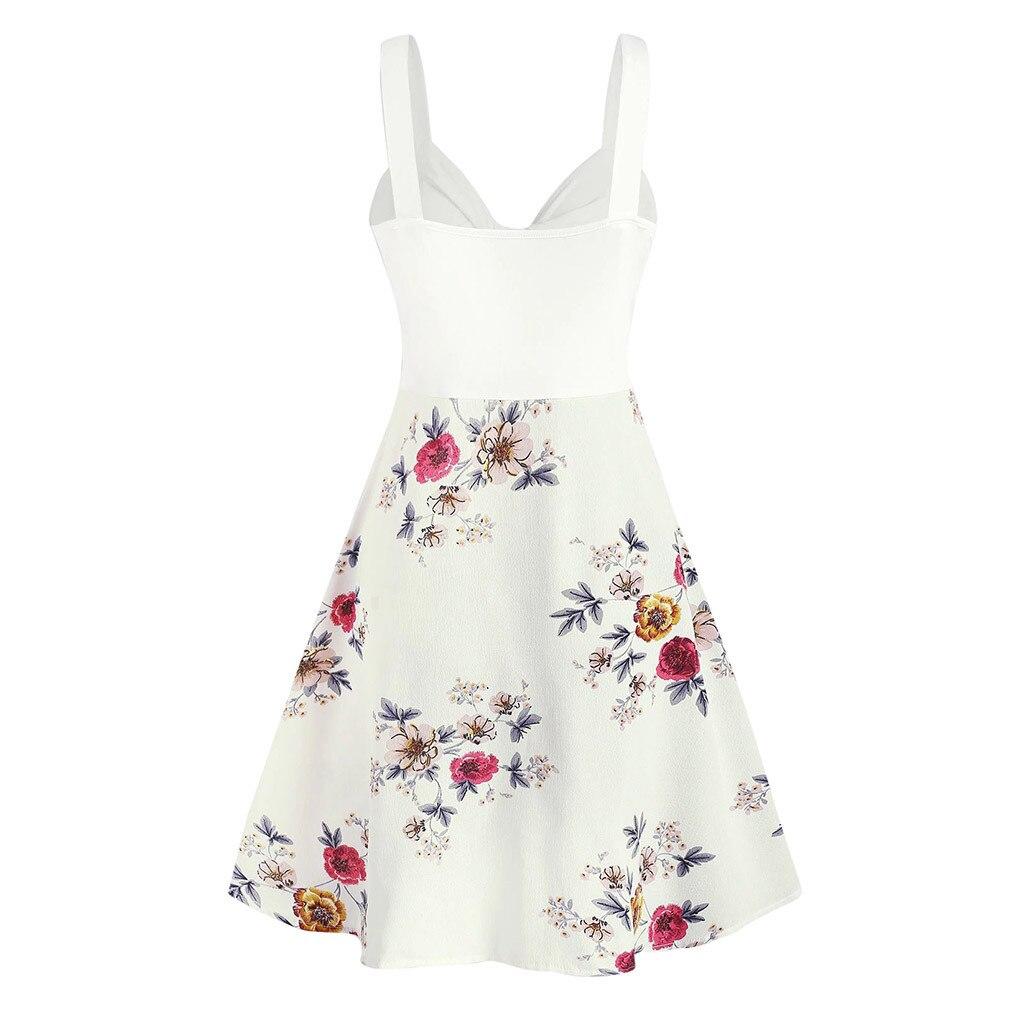 Sexy Fashion pluse size women dress bodycon Chiffon Printed V Neck Camis Sleeveless Ladies Mini Dress