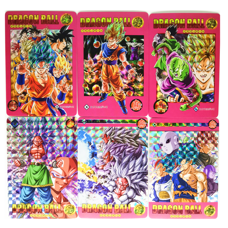 42pcs/set Super Dragon Ball Z Storm Clouds 1 Heroes Battle Card Ultra Instinct Goku Vegeta Game Collection Cards Only 8 Sets