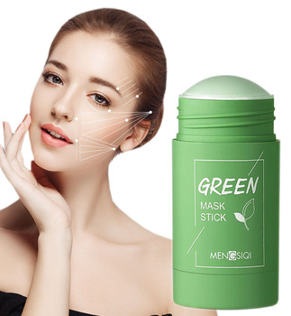 Green Tea Cleansing Mask Purifying Clay Stick Mask Oil Control Skin Cleansing Care Anti-Acne Eggplant Remove Blackhead Mud Mask 1