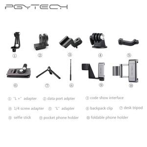 Image 1 - New Coming PGYTECH For DJI OSMO POCKET 2 Adapter Mount Holder Clip Selfie Stick Tripod Gimbal Protector Action Camera Gimbal