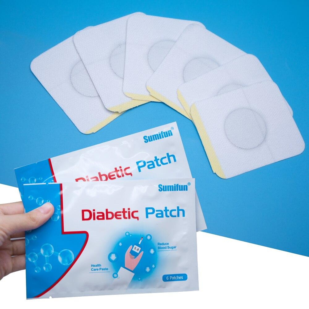 Sumifun 72pcs//12Bags Diabète Patch Réduire Haute Sucre Sang Diabète Patch Me…