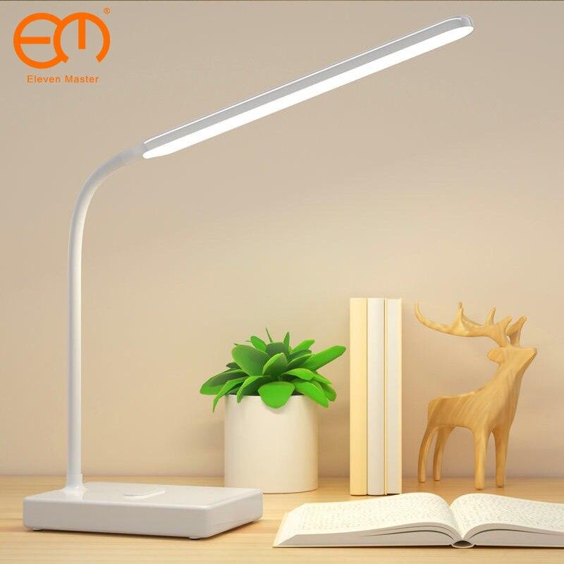 Lampe de bureau lampes de Table tactiles pour salon col de cygne bureau pliable réglable Protection des yeux lampe détude lumière Led ZZD0008