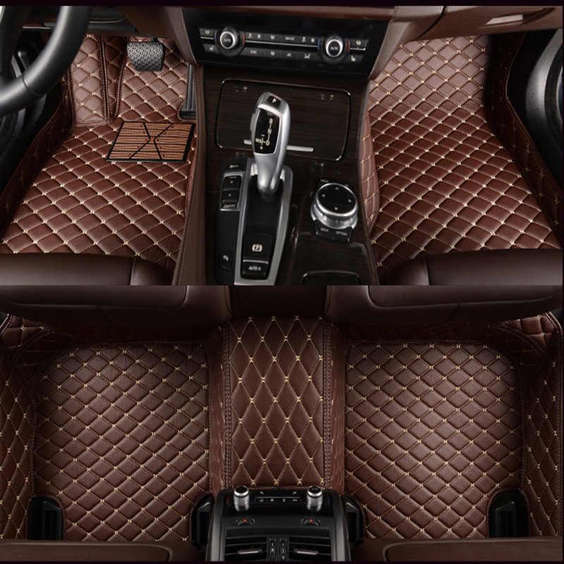 Hlfntf personalizado esteiras do assoalho carro para land rover rover range evoque esporte freelander descoberta 3 4 defender lr acessórios carro