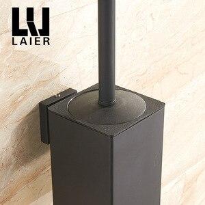 Image 2 - Vidric Wand montiert edelstahl inneren kunststoff eimer wc pinsel halter schwarz, perforierte metall anhänger racks