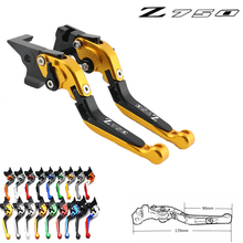 For KAWASAKI Z750 Z 750 2007-2012 Motorcycle Accessories Folding Extendable Brake Clutch Levers LOGO