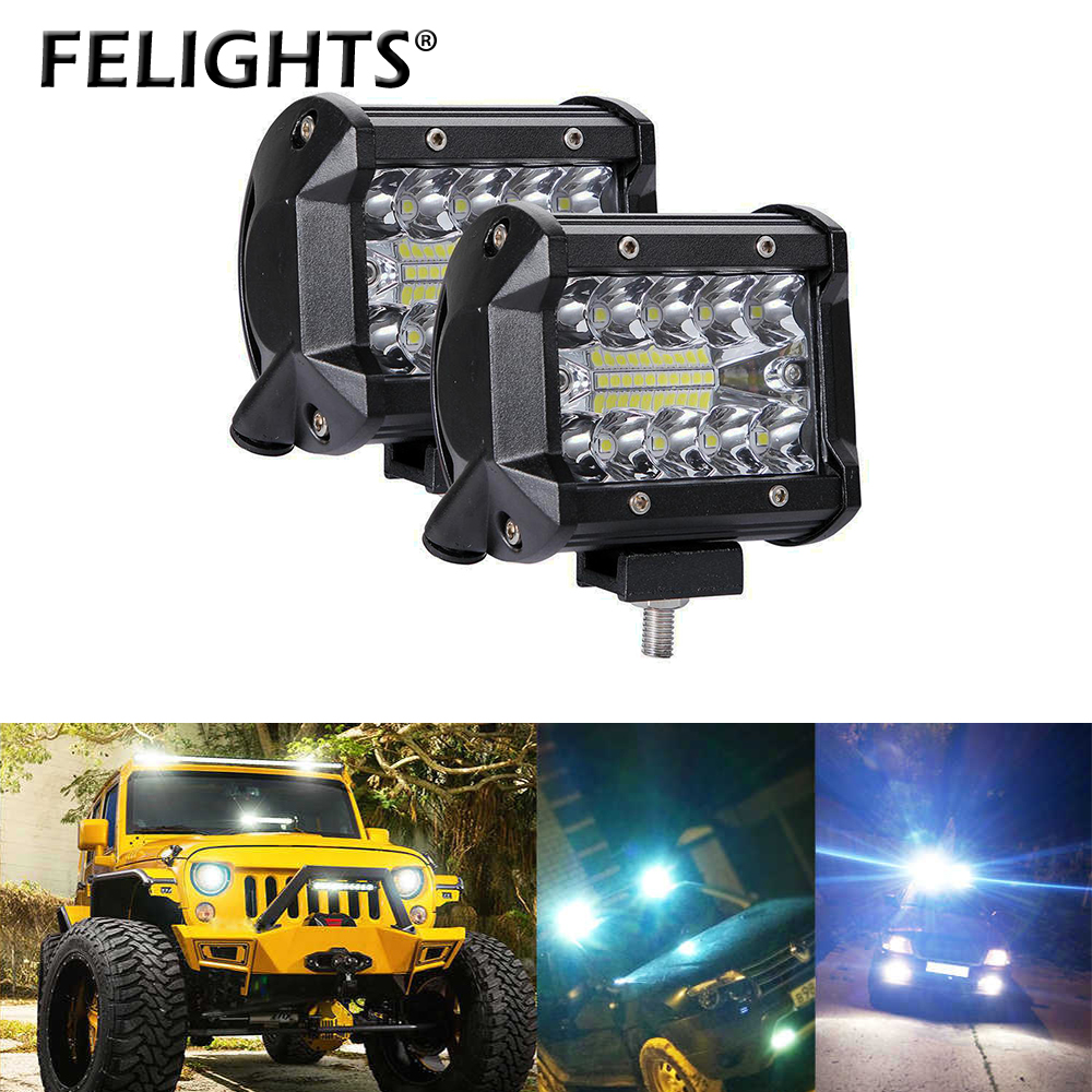 1pc 60W <font><b>led</b></font> bar <font><b>12v</b></font> work light <font><b>focos</b></font> <font><b>4x4</b></font> accessories barco truck auxiliary motorcycle lights off road <font><b>led</b></font> akcesoria samochodowe image
