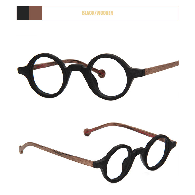 Image 4 - Acetate Round Fashion Glasses Men Harry Retro Glasses Frames Fake Glasses with Clear Lens Women Optical Spectacle FrameWomens Eyewear Frames   -