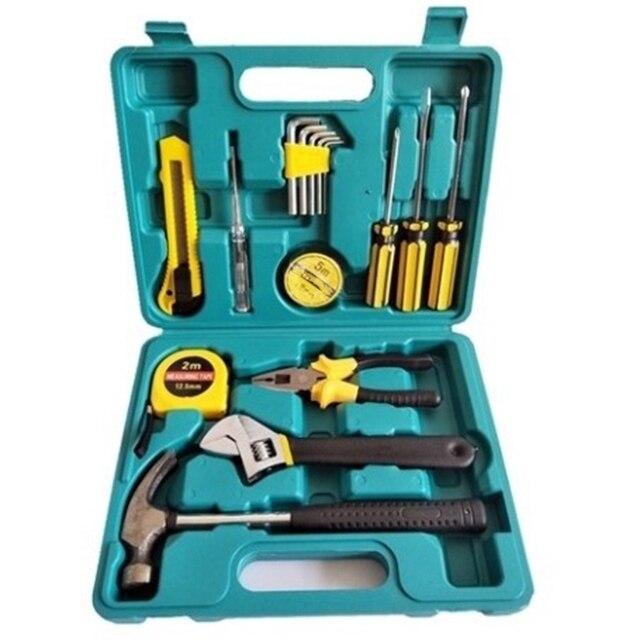 Ensemble doutils de réparation à domicile ensemble de boîte à outils en métal outil à main trousse à outils domestique