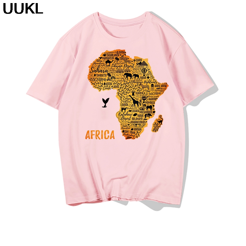 Ha8241a7ab9604b03a27ba2c5294c9da62 - Poleras Mujer De Moda Summer Female T-shirt Harajuku Letter African Plate T Shirt Leisure Fashion Tshirt Tops Hipster Shirt