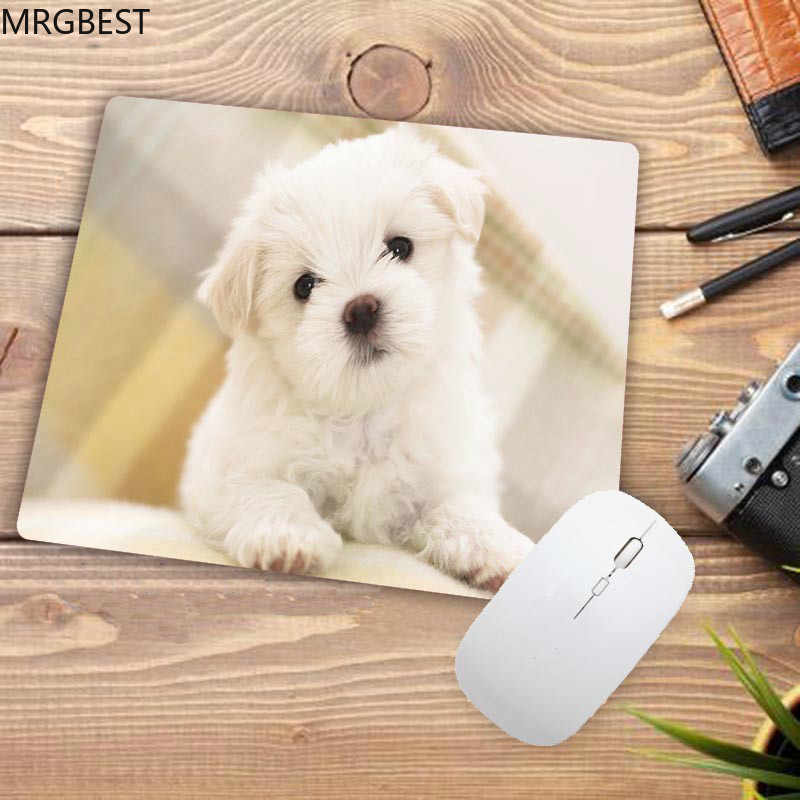 MRGBEST Small Mouse Pad 22x18CM/25X20CM/25X29CM Pads Cute Dog Pattern Office Desk Mats with Soft Rubber for Desk Docoration