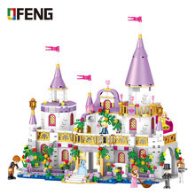 Girls Friends QL1106 Building Blocks Princess Windsor Castle Compatible Bricks Toys for Girl Christmas Gift bela friends 3189 girl mia farm stables building bricks blocks set gift toys for children compatible with lepine friends