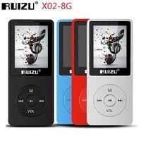 2021 nuovo RUIZU X02 HiFi lettore musicale MP3 8GB Sport lettore MP3 con schermo da 1.8 pollici supporto Radio FM, E-Book, orologio, registratore