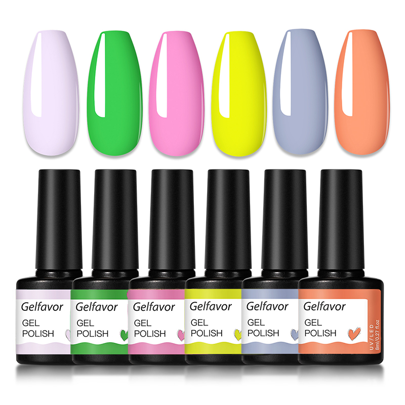 Gelfavor Gel Nail Polish Set Hybrid Varnishes 4/6Pcs Base Top For Nails UV LED Lamp Gel  Kits Manicure Nails Gel Polish Set 32