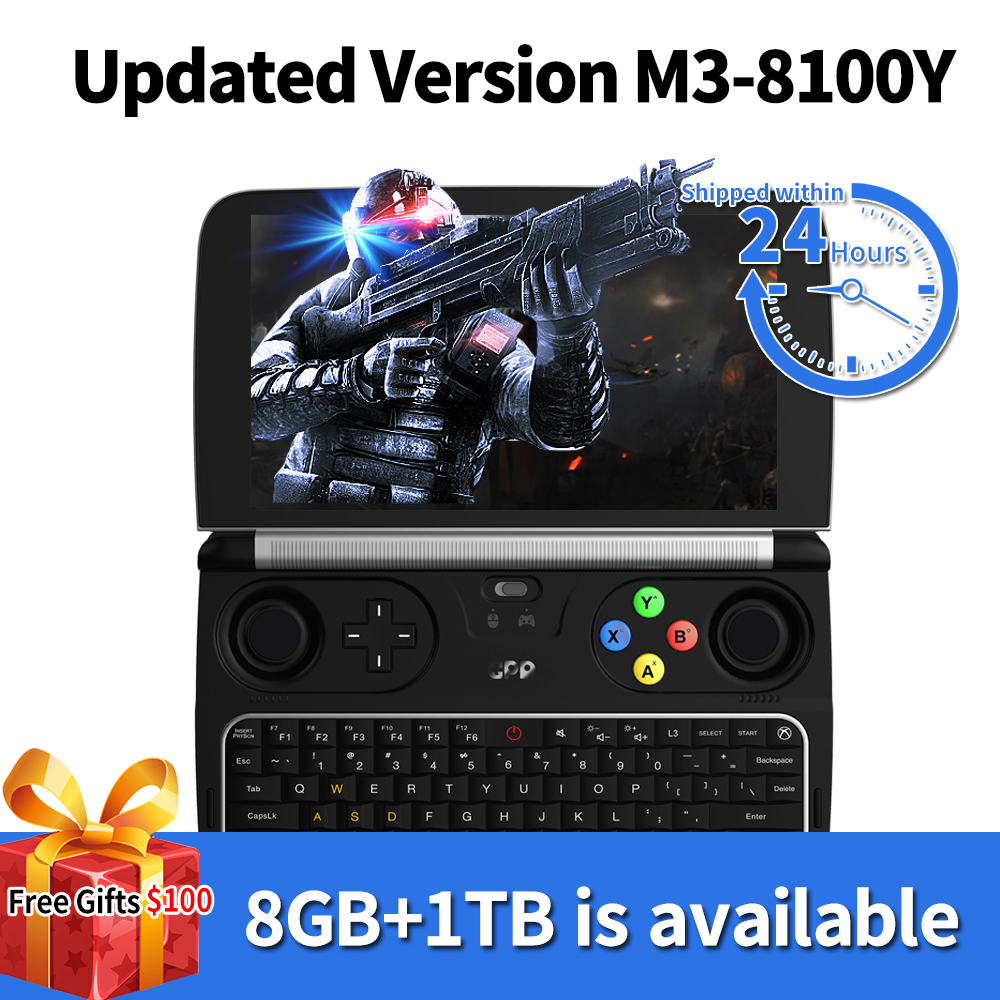 GPD WIN 2 WIN2 Intel m3-8100y Quad core 6 <font><b>Inch</b></font> GamePad Tablet Windows 10 8GB RAM 256GB ROM Pocket Mini PC <font><b>Laptop</b></font> Game Player image